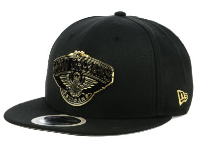 New Orleans Pelicans New Era NBA Black Enamel 9FIFTY Snapback Cap