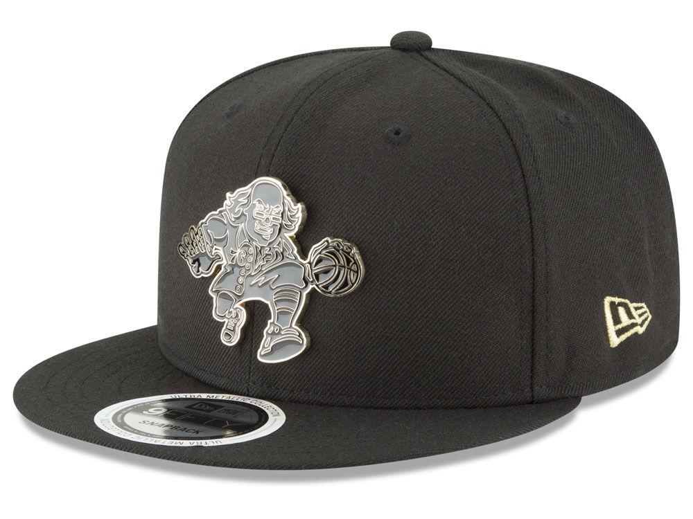 Philadelphia 76ers New Era NBA Black Enamel 9FIFTY Snapback Cap ... 2b828d403d7d