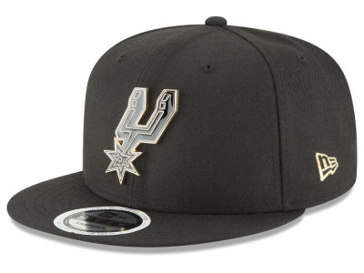 San Antonio Spurs New Era NBA Black Enamel 9FIFTY Snapback Cap