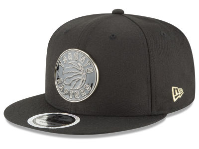 Toronto Raptors New Era NBA Black Enamel 9FIFTY Snapback Cap