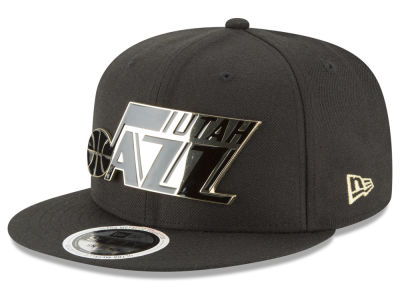 Utah Jazz New Era NBA Black Enamel 9FIFTY Snapback Cap