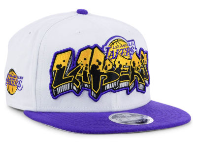Los Angeles Lakers New Era NBA Retro Word 9FIFTY Snapback Cap