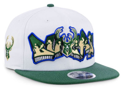 Milwaukee Bucks New Era NBA Retro Word 9FIFTY Snapback Cap