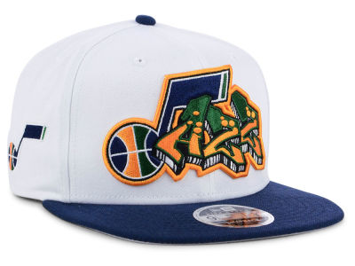 Utah Jazz New Era NBA Retro Word 9FIFTY Snapback Cap