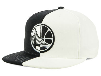 Golden State Warriors Mitchell & Ness NBA Split Logo Snapback Cap