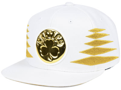 Boston Celtics Mitchell & Ness NBA Gold Diamonds Snapback Cap
