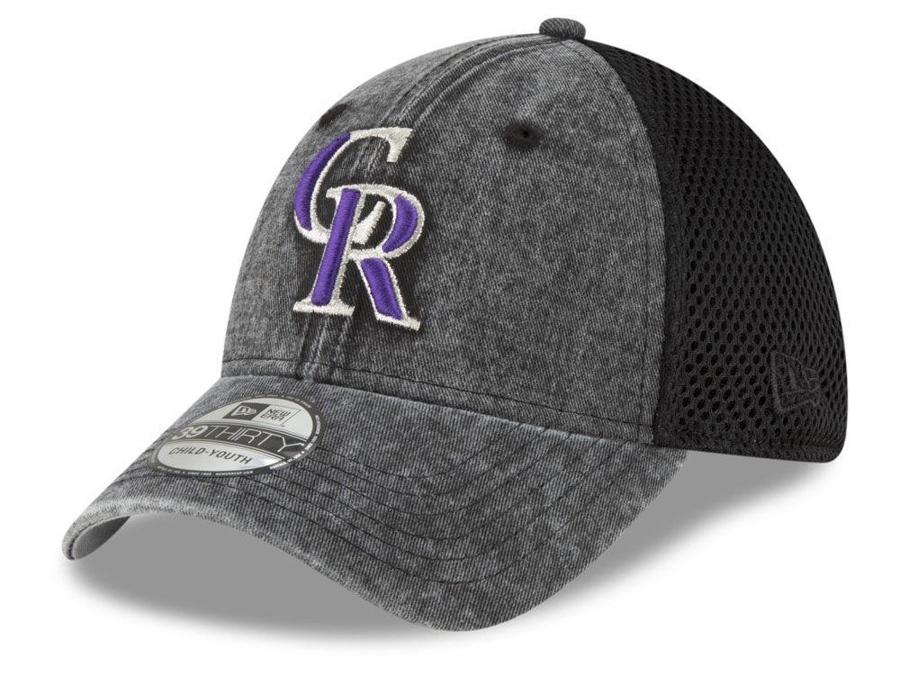 official photos c0080 55b51 Colorado Rockies New Era MLB Jr Hooge Neo 39THIRTY Cap   lids.com