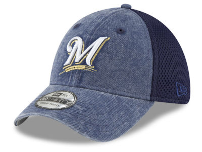 Milwaukee Brewers New Era MLB Jr Hooge Neo 39THIRTY Cap