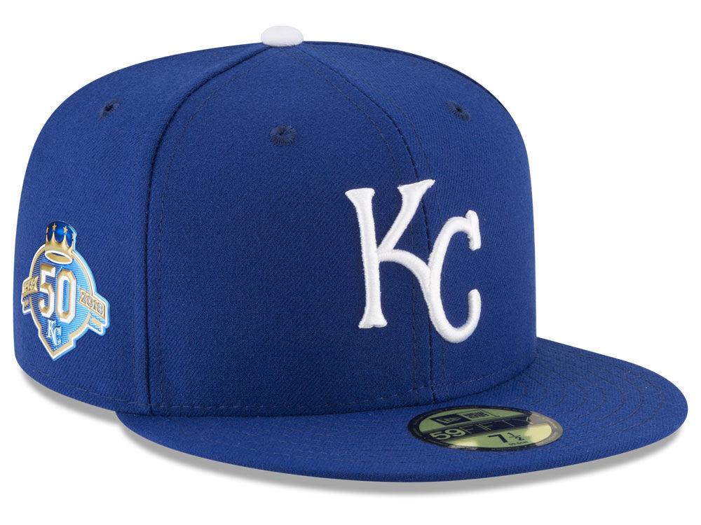 926b6ff8 Kansas City Royals New Era MLB Authentic Collection 50th Anniversary  59FIFTY Cap
