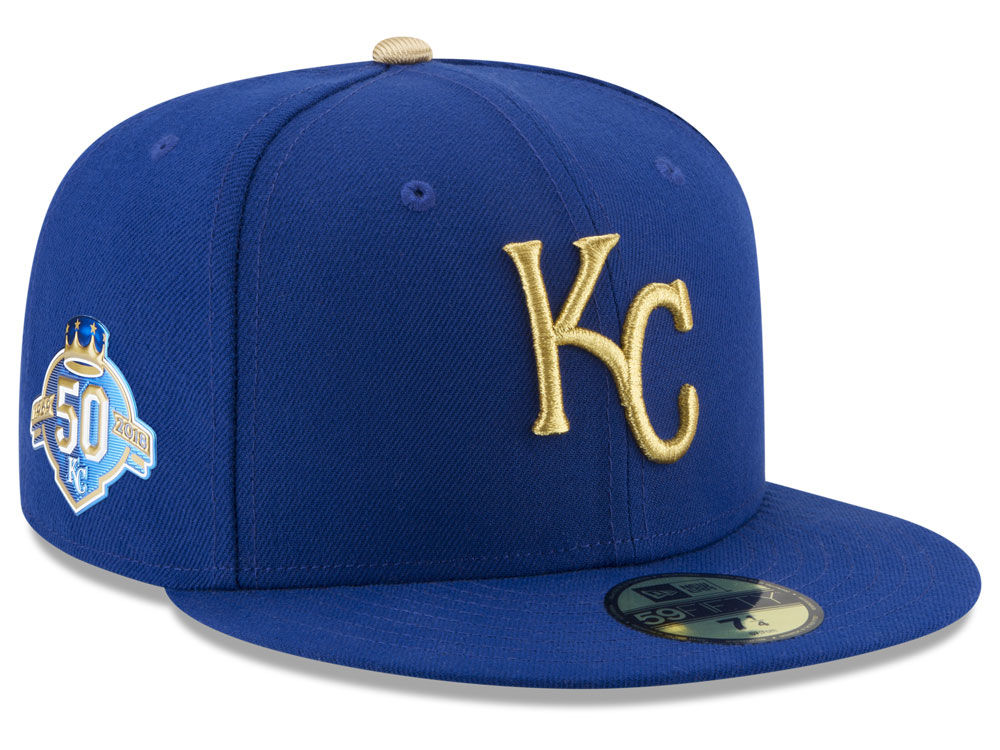 9bc2dcfb028 Kansas City Royals New Era MLB Authentic Collection 50th Anniversary  59FIFTY Cap