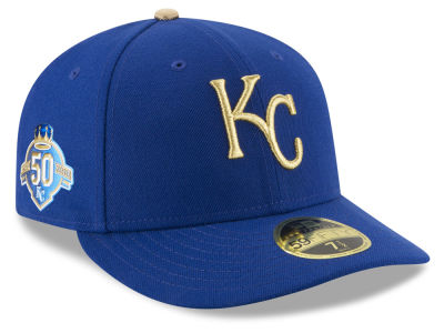 Kansas City Royals New Era MLB Low Profile AC 50th Anniversary 59FIFTY Cap