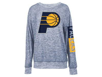 Indiana Pacers 5th & Ocean NBA Women's Space Dye Crew Pullover