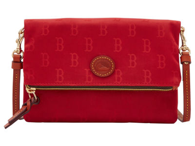 Boston Red Sox Dooney & Bourke Embossed Nylon Foldover Crossbody