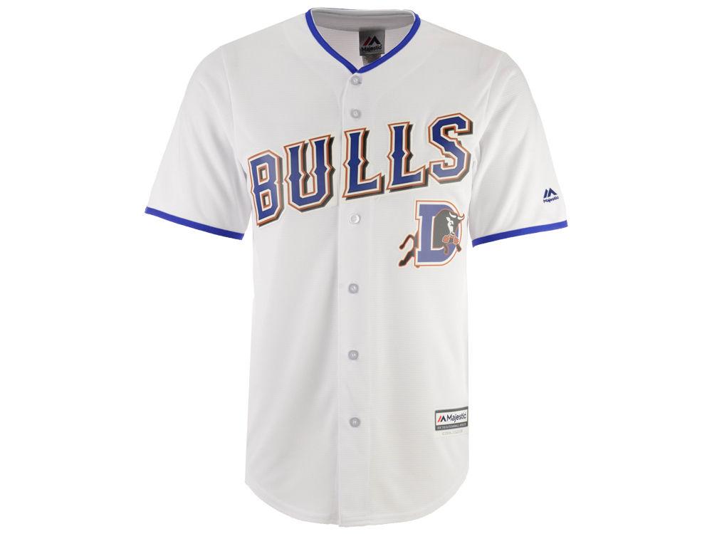 e4bfdc90b Durham Bulls Majestic MiLB Men s Replica CB Jersey