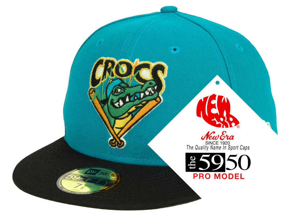 d27fe957441 Cape Fear Crocs New Era MiLB Retro Classic 59FIFTY Cap