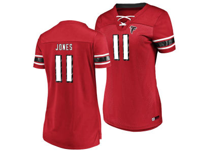 Atlanta Falcons Julio Jones Majestic 2018 NFL Women's Draft Him Shirt