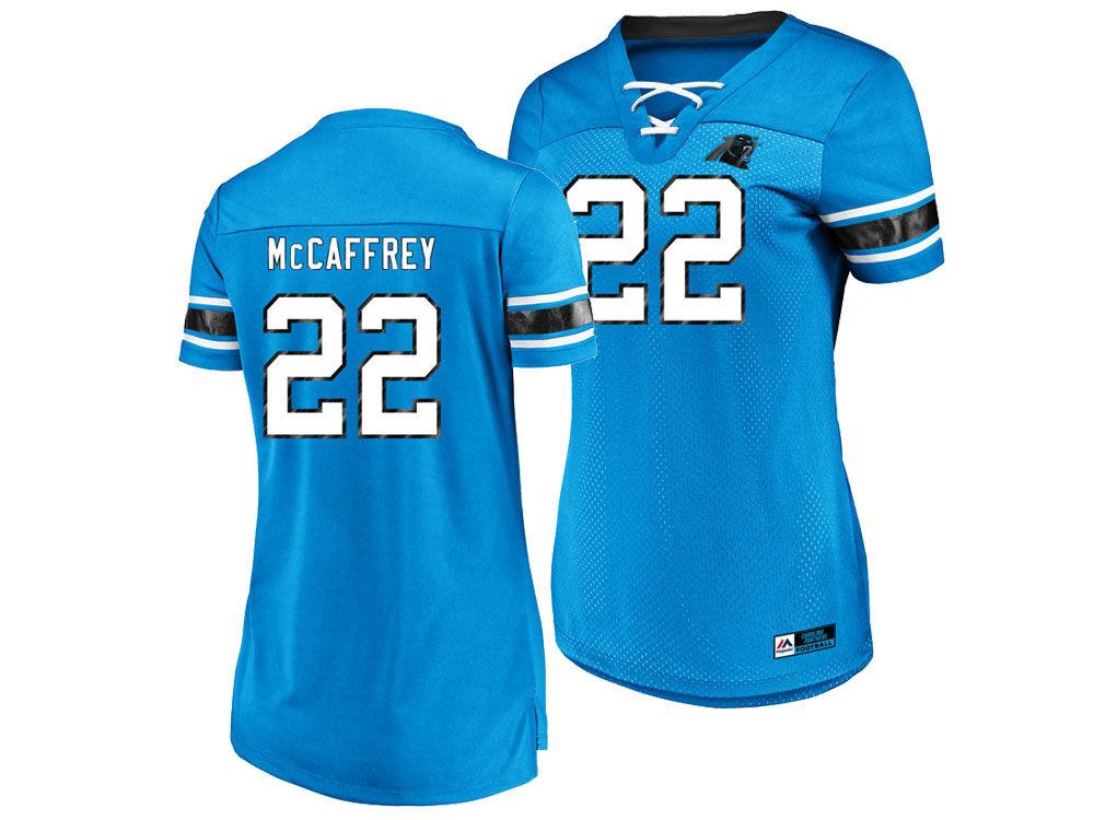 Carolina Panthers Christian McCaffrey Majestic 2018 NFL Women s Draft Him  Shirt  b0a68e7961