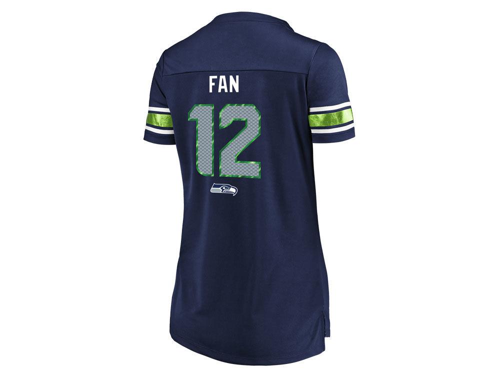 Seattle Seahawks Fan  12 Majestic 2018 NFL Women s Draft Him Shirt ... 7fc8d36fb2