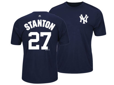 New York Yankees Giancarlo Stanton Majestic MLB Men's Cool Base Name and Number T-Shirt