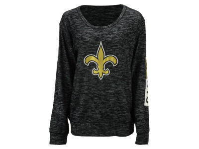 New Orleans Saints 5th & Ocean NFL Women's Space Dye Crew Pullover