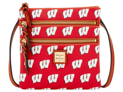Wisconsin Badgers Dooney & Bourke Triple Zip Crossbody Bag