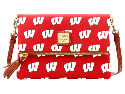 Wisconsin Badgers Dooney & Bourke Foldover Crossbody Purse