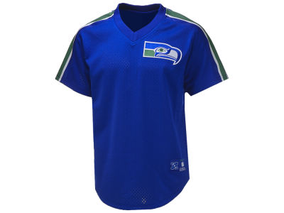 Seattle Seahawks Mitchell & Ness NFL Men's Mesh V-Neck T-shirt