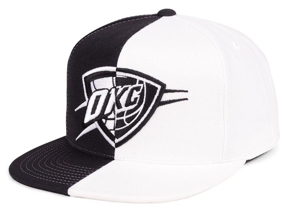 Oklahoma City Thunder Mitchell   Ness NBA Split Logo Snapback Cap ... aaf65d03553