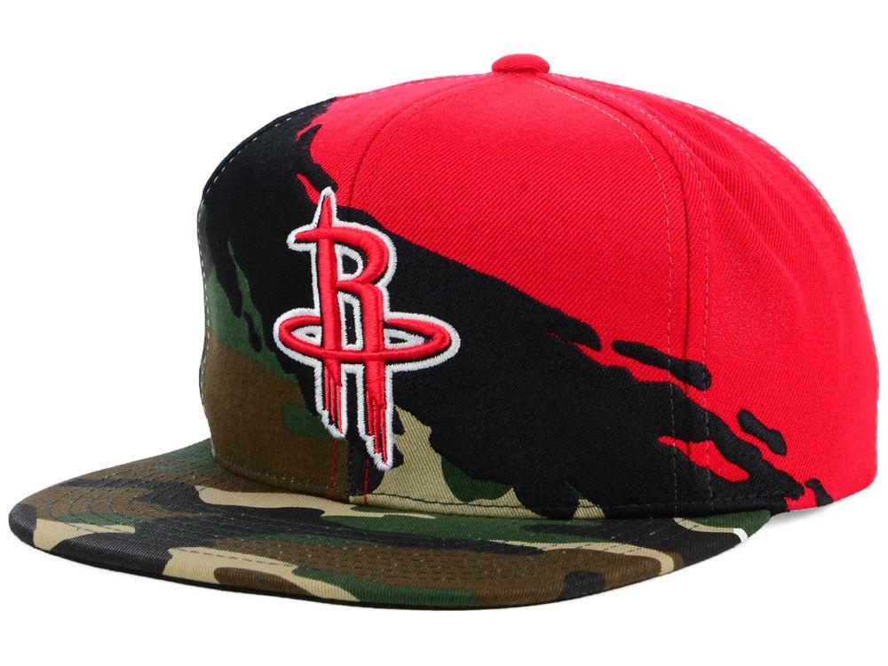 6f04c2772d2 Houston Rockets Mitchell   Ness NBA Paint Brush Snapback Cap