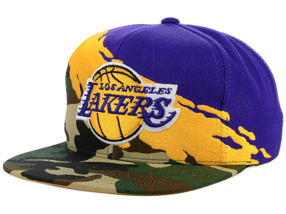 uk availability a1fe6 72e25 ... shopping los angeles lakers mitchell ness nba paint brush snapback cap  lids 820ff c7093