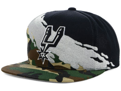 San Antonio Spurs Mitchell & Ness NBA Paint Brush Snapback Cap