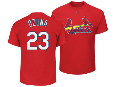 St. Louis Cardinals Marcell Ozuna Majestic MLB Men's Official Player T-Shirt
