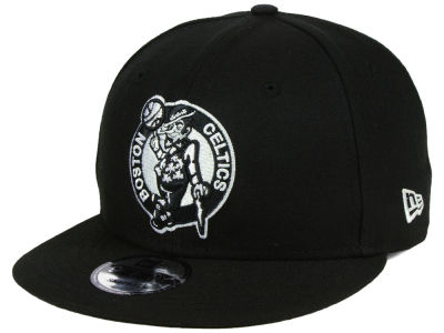 Boston Celtics New Era NBA Basic Black & White 9FIFTY Snapback Cap