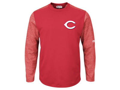 Cincinnati Reds Majestic MLB Men's AC On-Field Tech Fleece