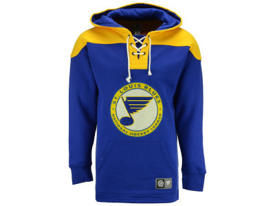 St. Louis Blues NHL Men's True Classics Fleece Lace-Up Hoodie