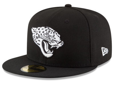 Jacksonville Jaguars New Era NFL Chase Black White 59FIFTY Cap