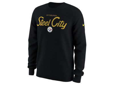 Pittsburgh Steelers Nike NFL Men's Local Slogan Long Sleeve T-shirt