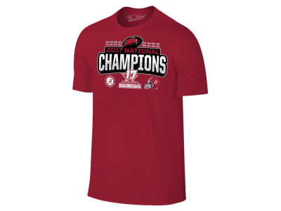 Alabama Crimson Tide 2018 NCAA Men's National Champ Schedule T-Shirt
