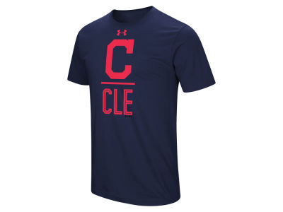 Cleveland Indians Under Armour MLB Men's Performance Slash T-Shirt