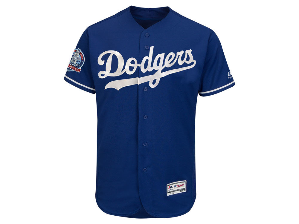 8e2c16b0b ... clearance los angeles dodgers majestic mlb mens flexbase 60th  anniversary patch jersey lids 9b428 9faf4