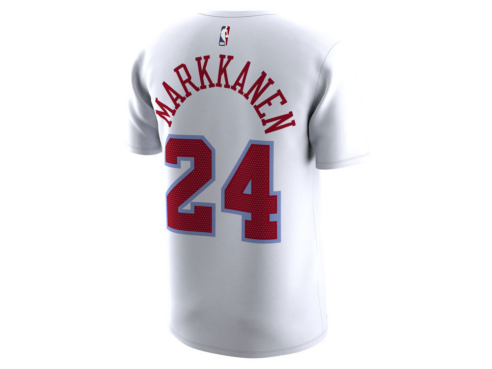 754a95170 Chicago Bulls Lauri Markkanen Nike NBA Men s City Player T-Shirt. Chicago  Bulls Lauri Markkanen Nike NBA Men s ...