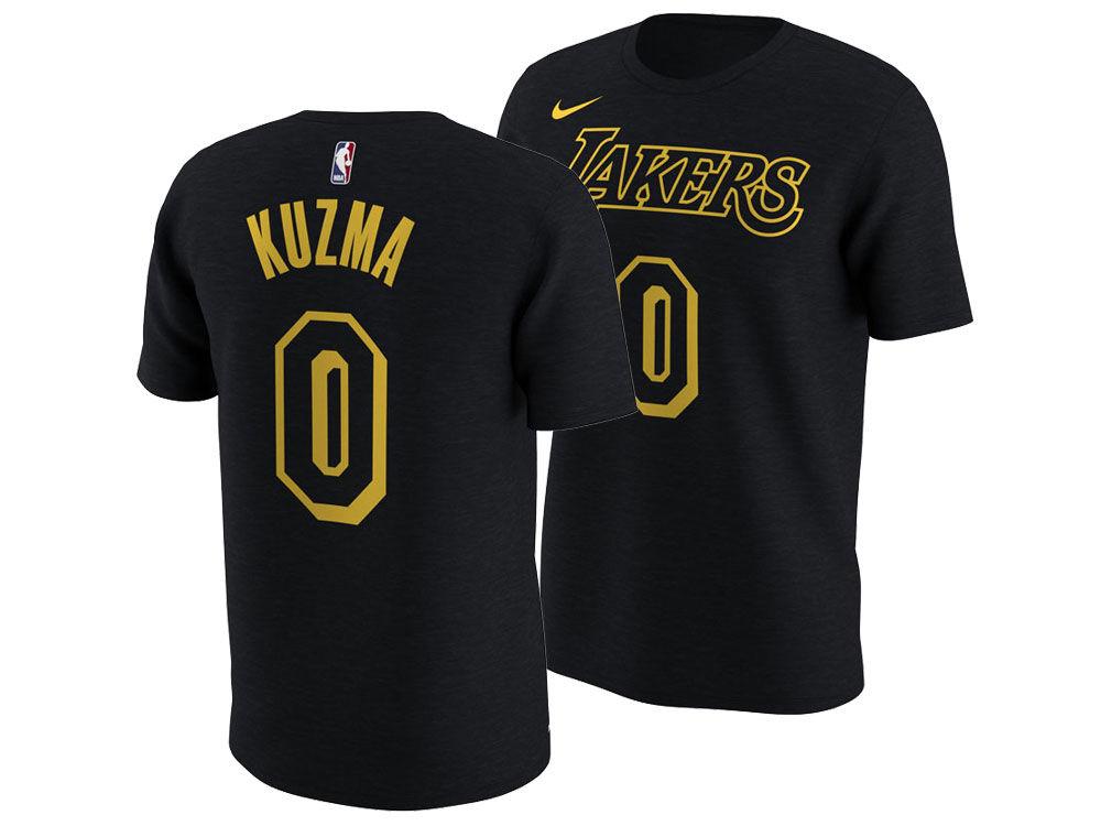 Los Angeles Lakers Kyle Kuzma Nike NBA Men s City Player T-Shirt ... c953ebc8b