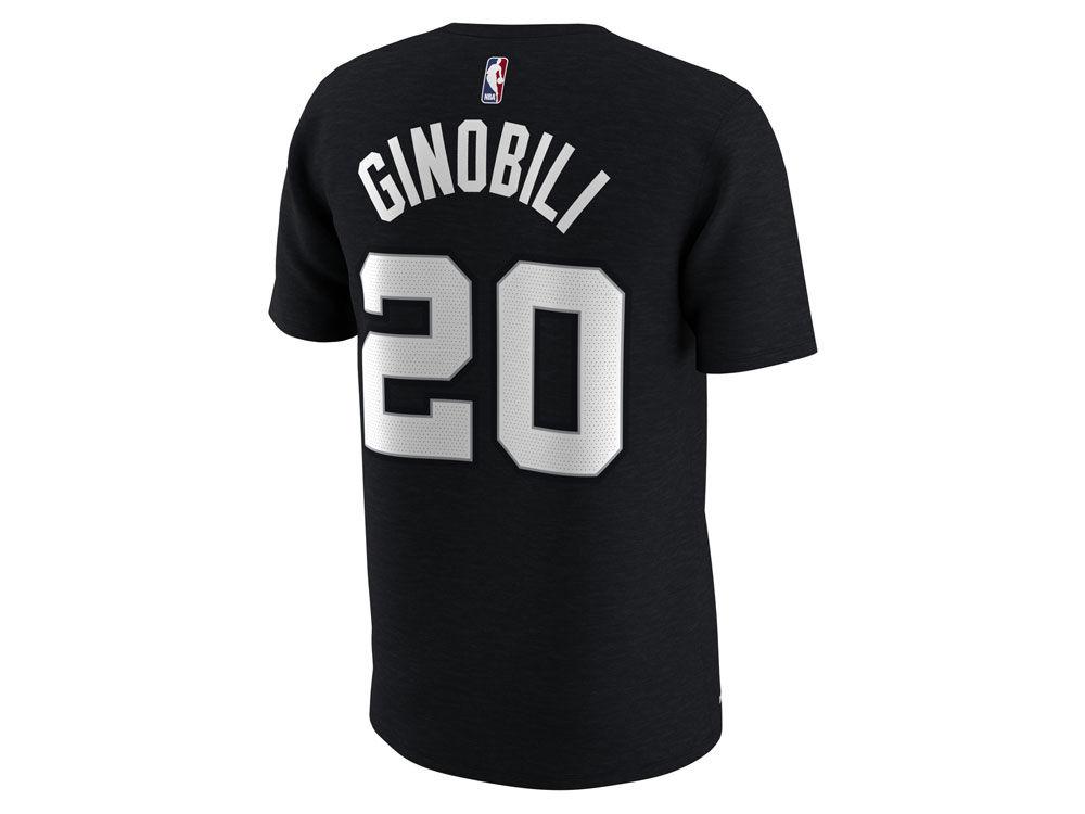 fbc4d4839 San Antonio Spurs Manu Ginobili Nike NBA Men s City Player T-Shirt ...