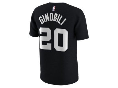 San Antonio Spurs Manu Ginobili Nike NBA Men's City Player T-Shirt
