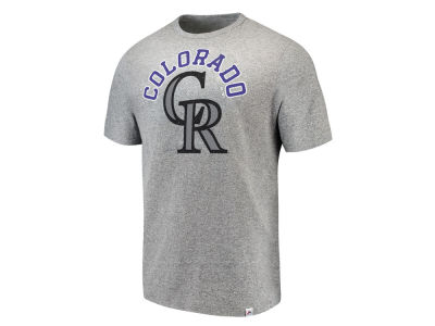 Colorado Rockies Majestic MLB Men's Twisted Stripe T-Shirt