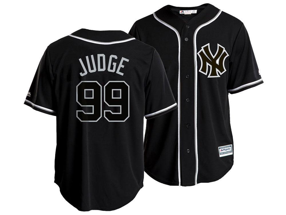New York Yankees Aaron Judge Majestic MLB Men s Pitch Black Jersey ... 7627e9e0a38