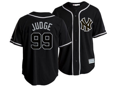 New York Yankees Aaron Judge Majestic MLB Men's Pitch Black Jersey