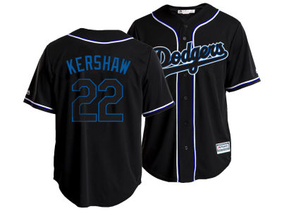 Los Angeles Dodgers Clayton Kershaw Majestic MLB Men's Pitch Black Jersey