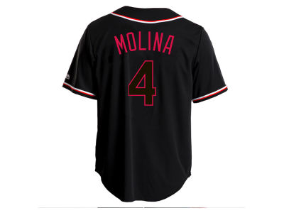 St. Louis Cardinals Yadier Molina Majestic MLB Men's Pitch Black Jersey