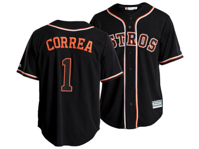Houston Astros Carlos Correa MLB Men's Pitch Black Jersey